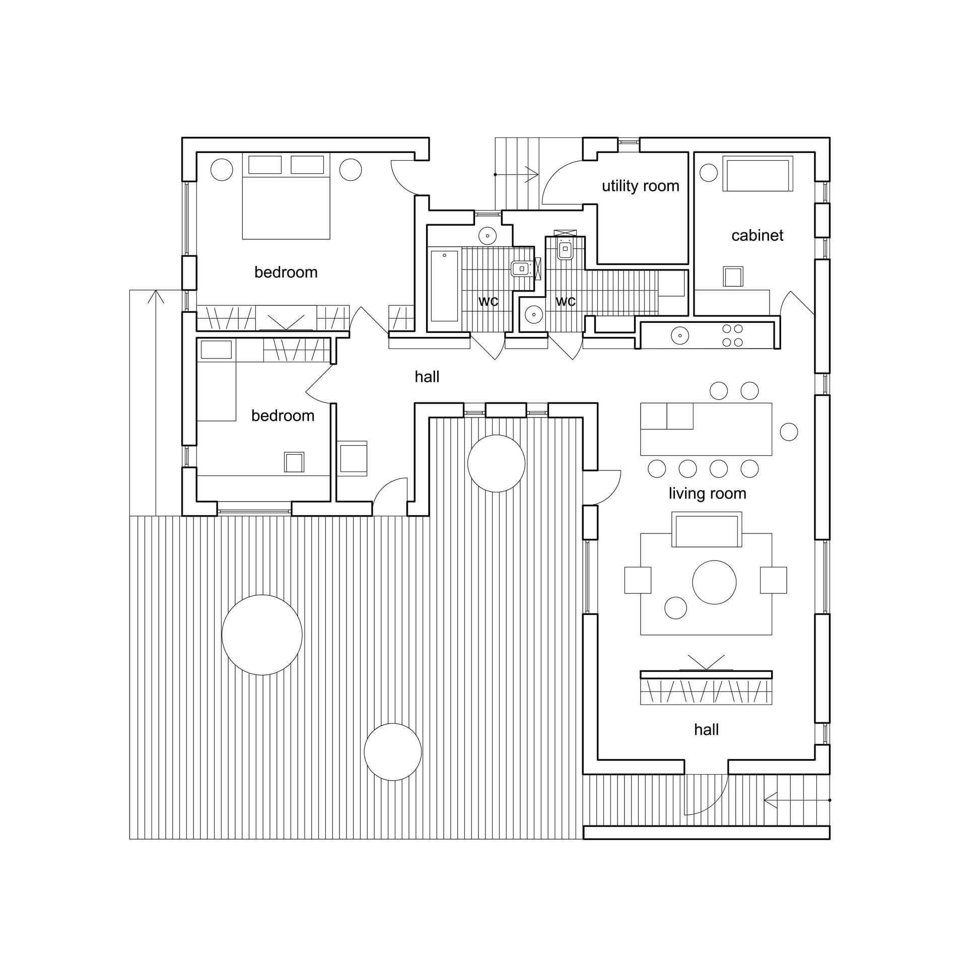 plan d'architecte de maison