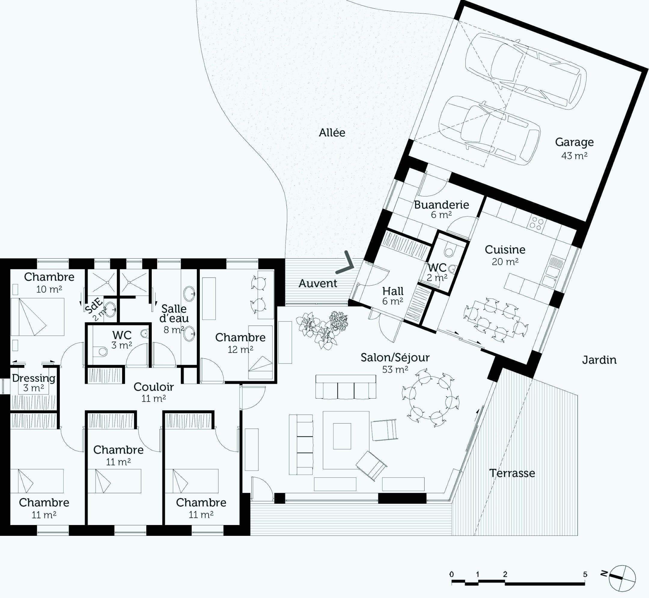 maison d 39 architecte mod les plans et prix. Black Bedroom Furniture Sets. Home Design Ideas