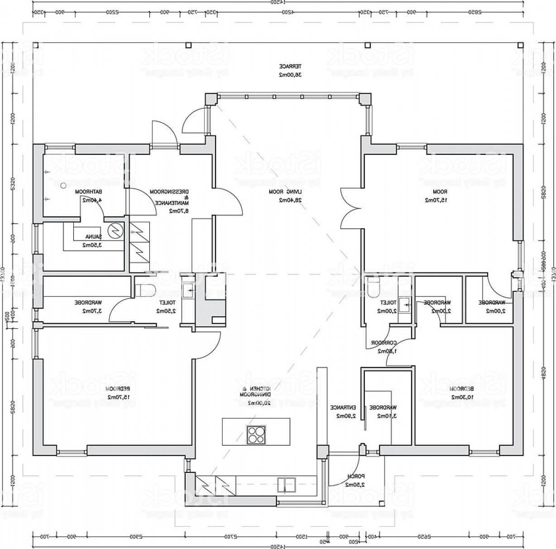 plan d'architecte de maison moderne