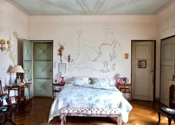 papier peint plafond jean cocteau