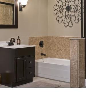 renovation salle de bain baignoire basse bébé