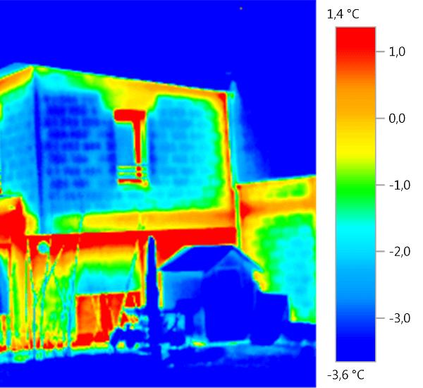 deperditions de chaleur avec camera infrarouge