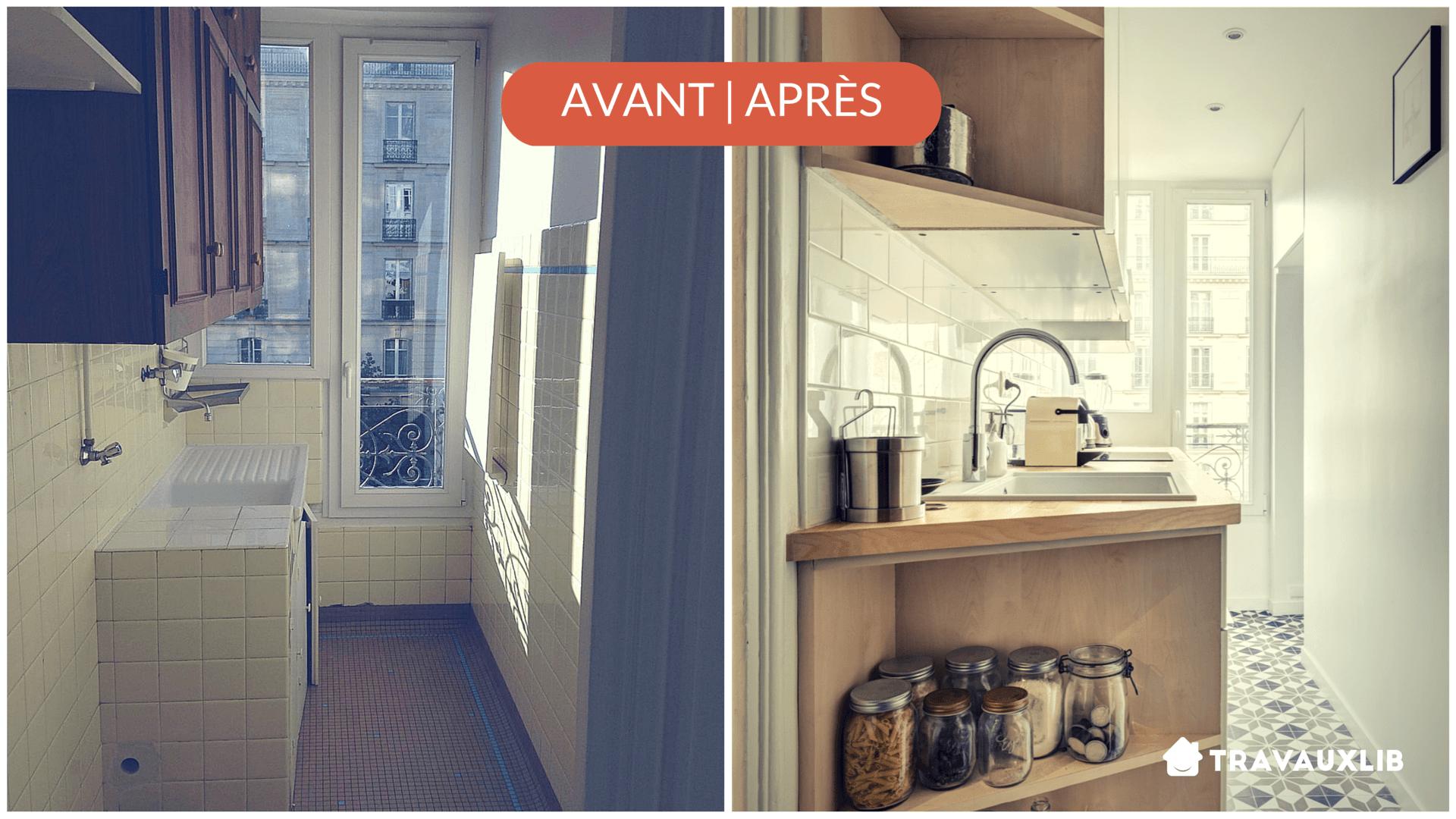 Plan petite cuisine lineaire for Cuisine petit appartement