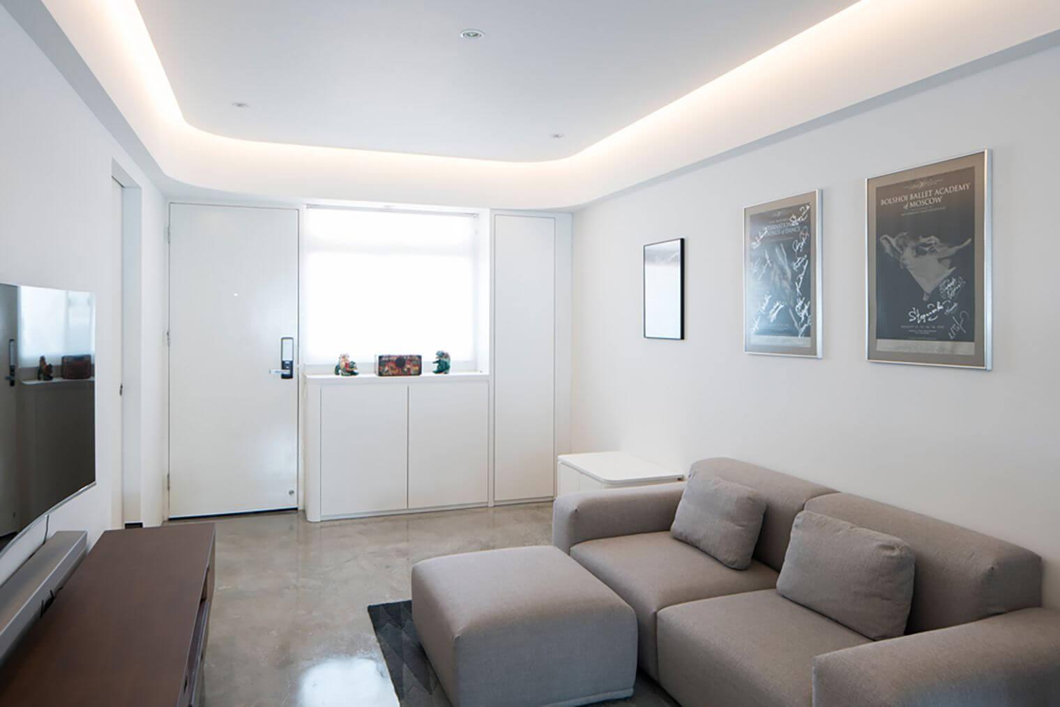 Salon moderne éclairage tamisé