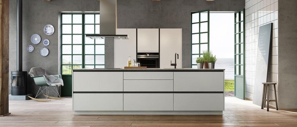 cuisine Kvik minimaliste et blanche