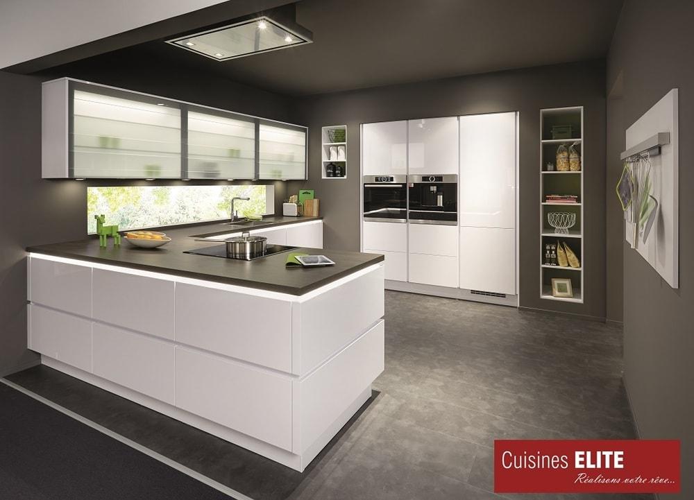 cuisine élite laqué blanc ultra brillant
