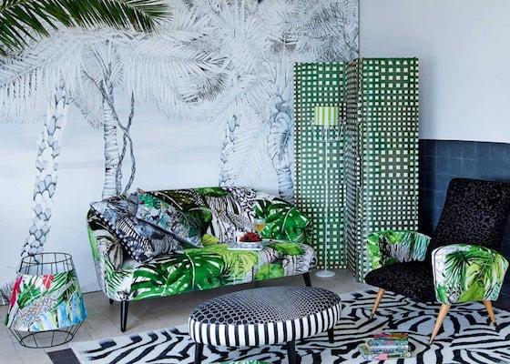 selection d co top 10 des papiers peints tropicaux. Black Bedroom Furniture Sets. Home Design Ideas