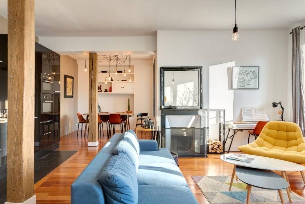 Ambiance scandinave pour cet appartement parisien
