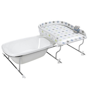 baignoire bebe table à langer