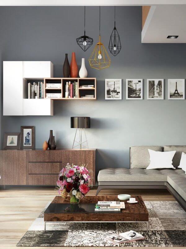 Architecte d'intérieur - Salon moderne aménagé