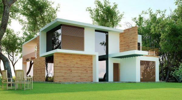 Maison d'architecte à ossature bois