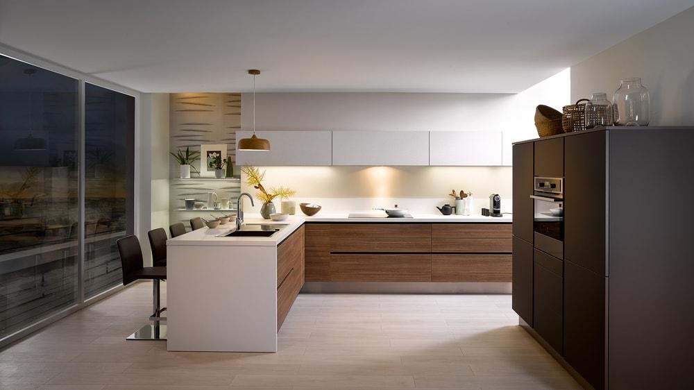 cuisine Cuisinella bois et blanc