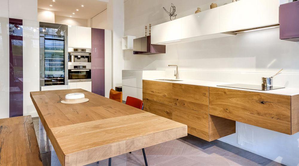 cuisine Lago design, blanc et bois