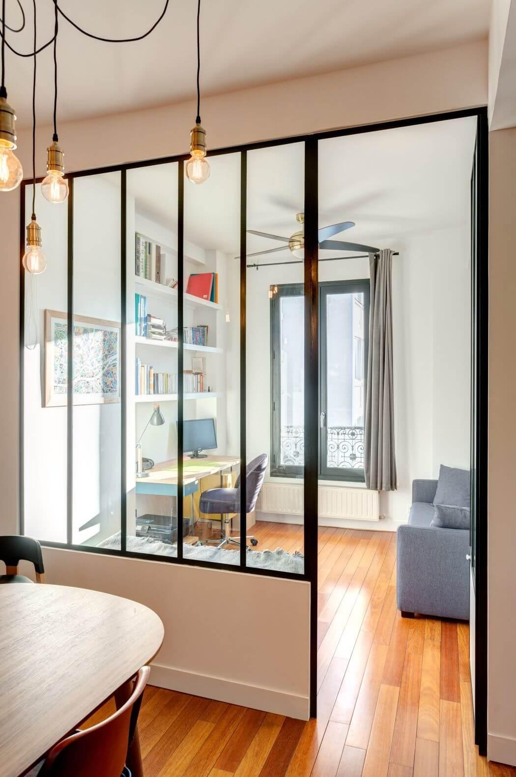 Rénovation d'un appartement avec verrière sur-mesure