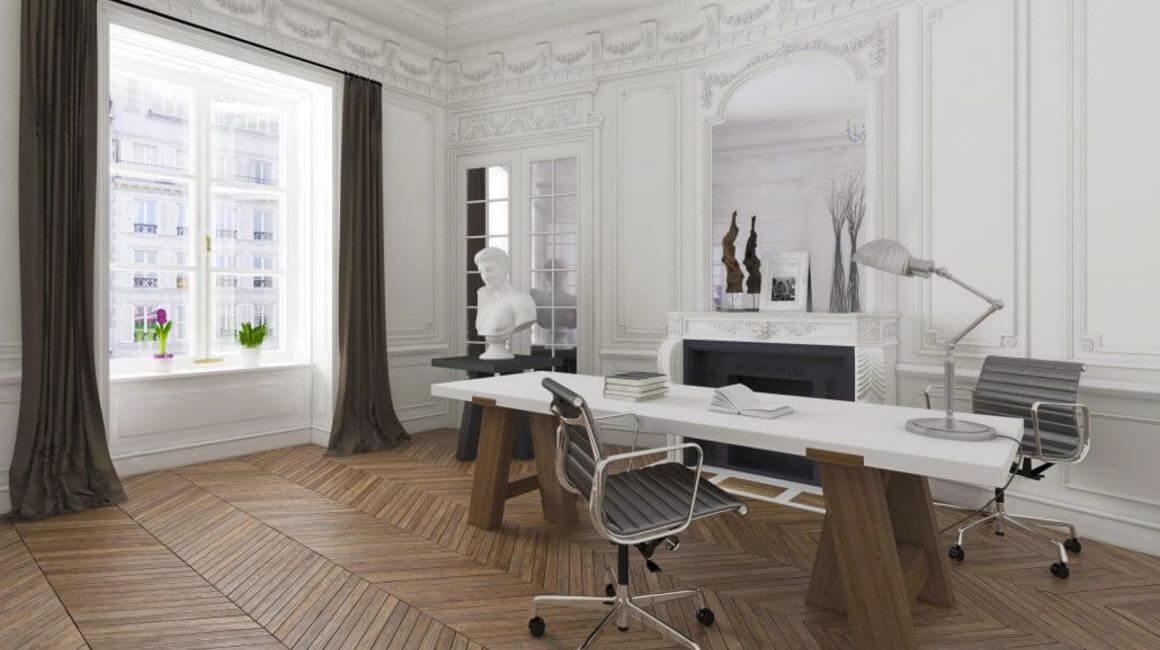 perspective 3D d'un bureau