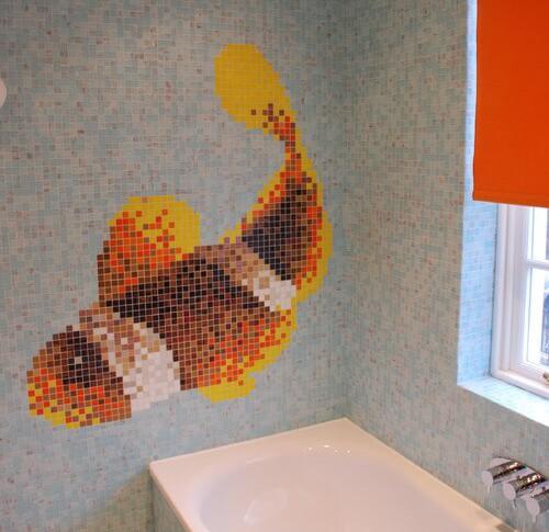 Refaire sa salle de bain : Revetement mural salle de bain