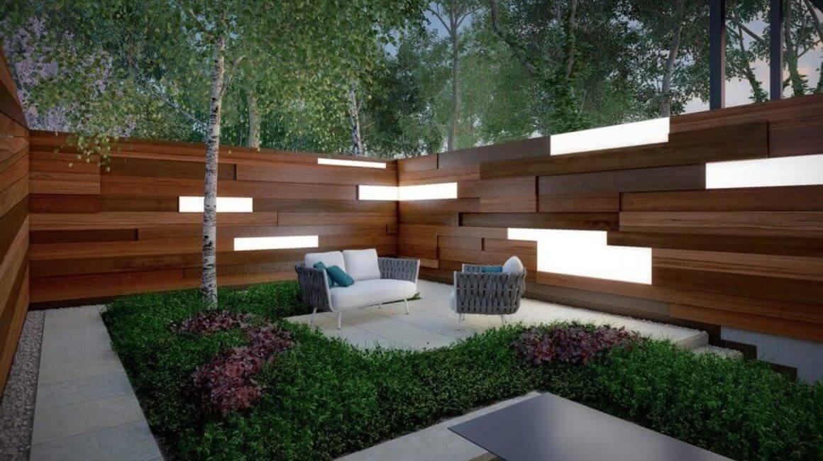 perspective 3D terrasse aménagée