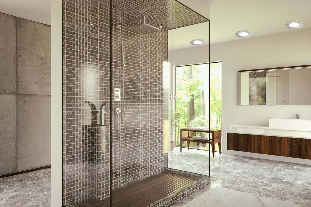 Remplacement d'une baignoire ancienne par une douche moderne