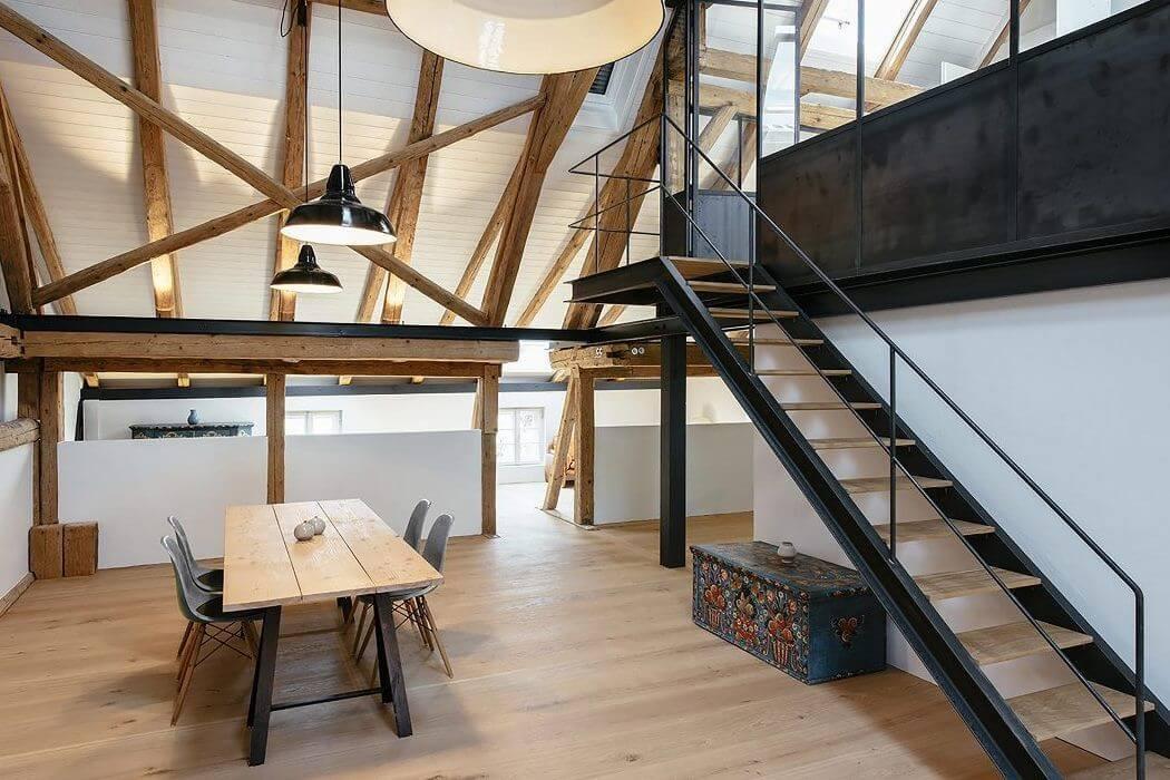 Grange renovee en habitation moderne