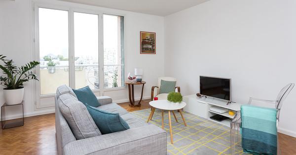 Rénovation d'un appartement avec parquet damier