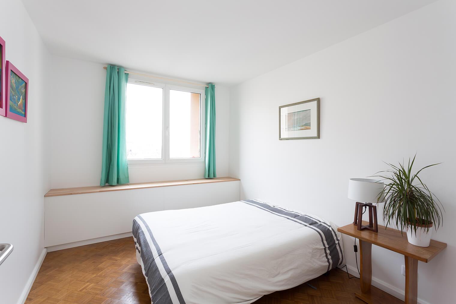 Décoration d'une chambre avec parquet