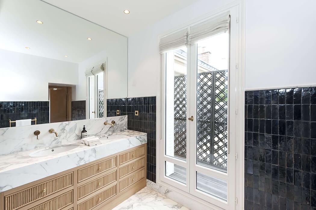 renovation haut de gamme d'une salle de bain parisienne
