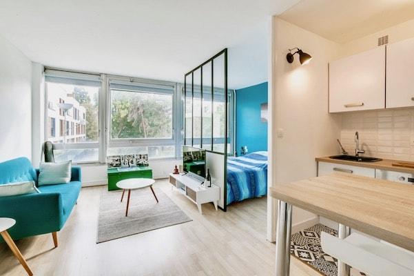 avant apres renovation studio paris cloison petits espaces
