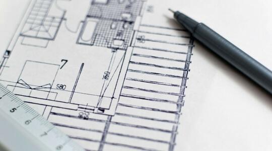 Dessin de plans d'architecte