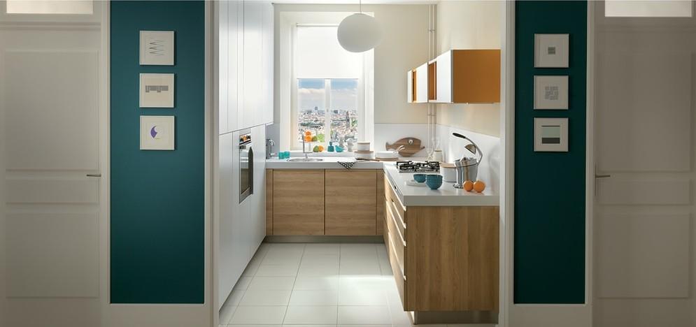cuisine schmidt bicolore pour les petits espaces