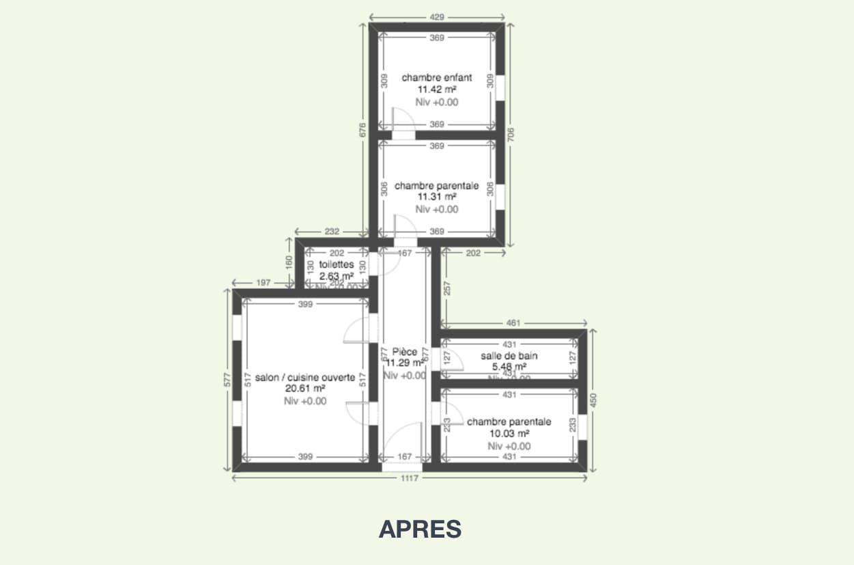 plan apres renovation appartement