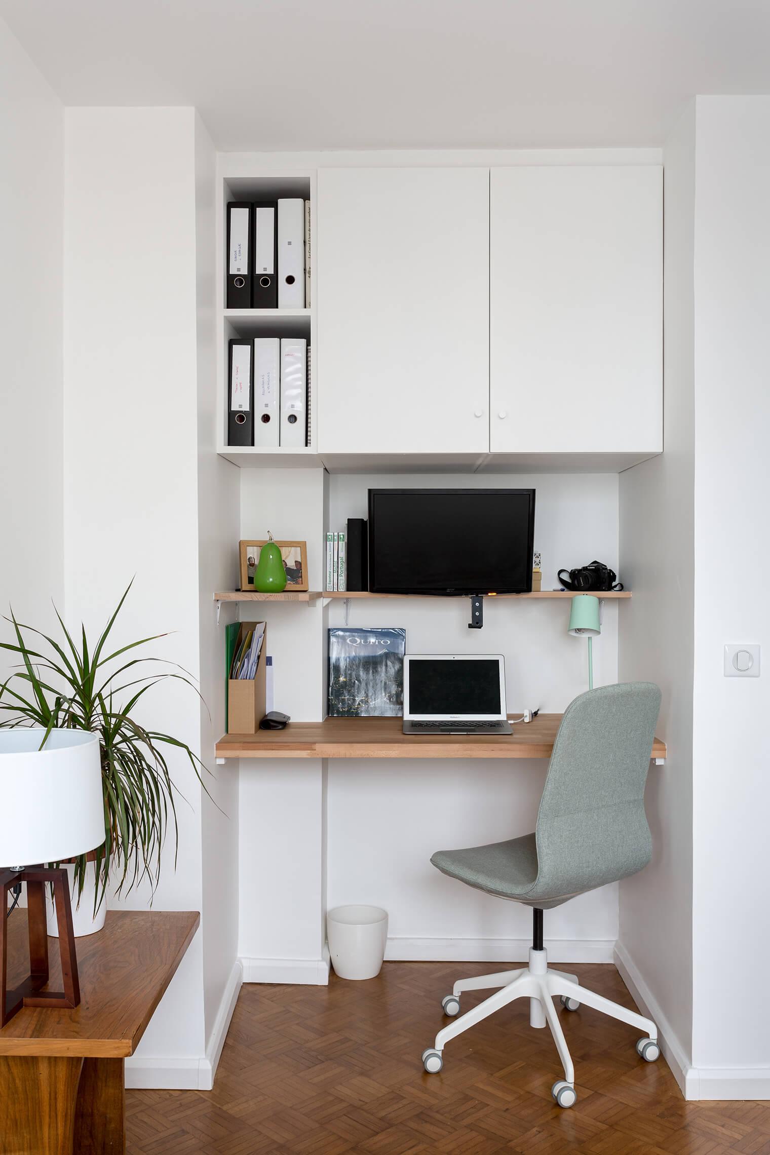Création d'un coin bureau dans appartement