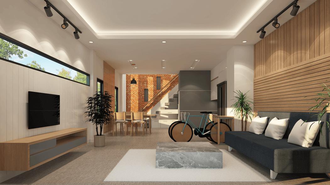 Plan 3D d'architecte d'intérieur
