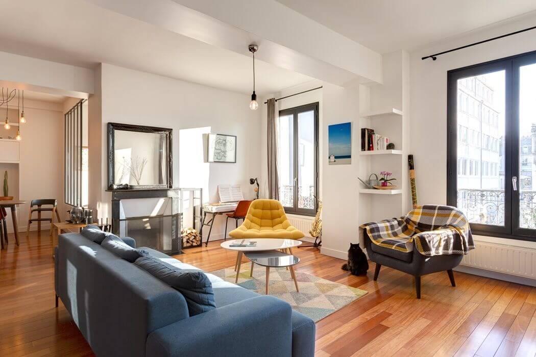 Rénovation de la décoration intérieure d'un appartement parisien