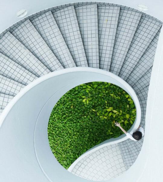 Escalier d'architecture moderne