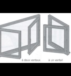 Fenêtre à la française, appelée aussi fenêtre ouvrant à la française simple ou double ouvrant