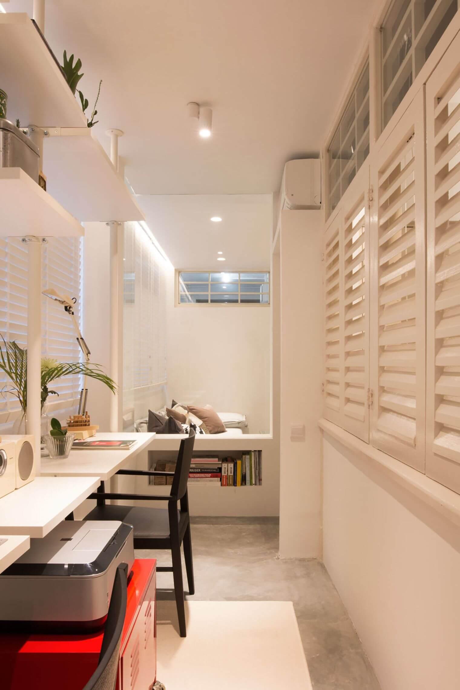 Aménagement espace de travail dans appartement