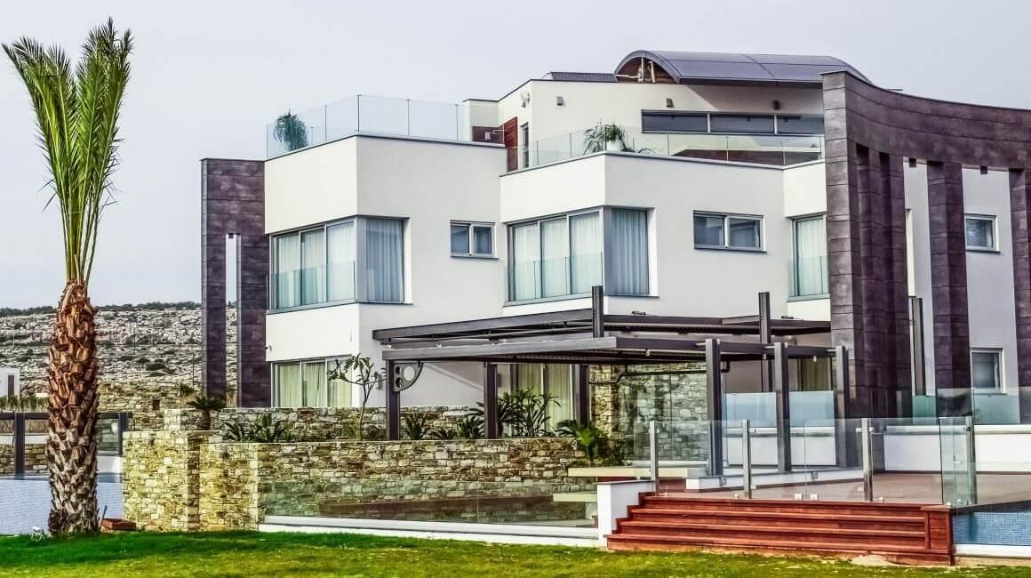perspective d'une villa d'architecte