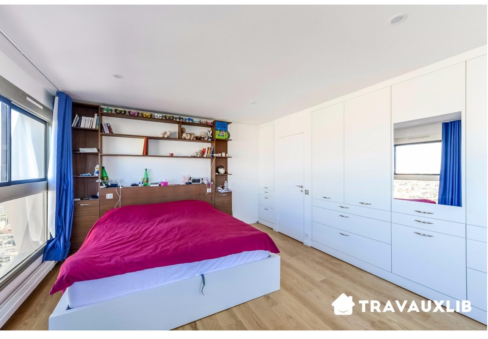 nos r alisations r novation compl te d 39 un appartement paris 15. Black Bedroom Furniture Sets. Home Design Ideas