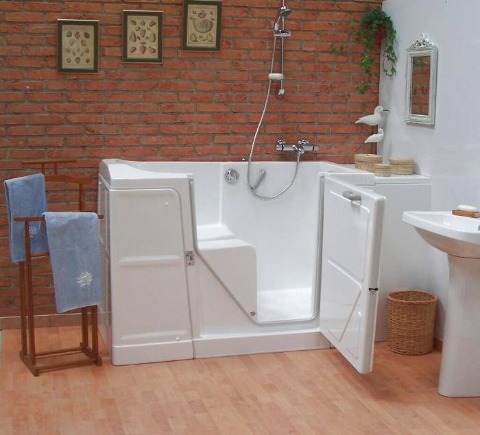 Baignoire porte l vateur de bain salle de bain for Baignoire douche porte