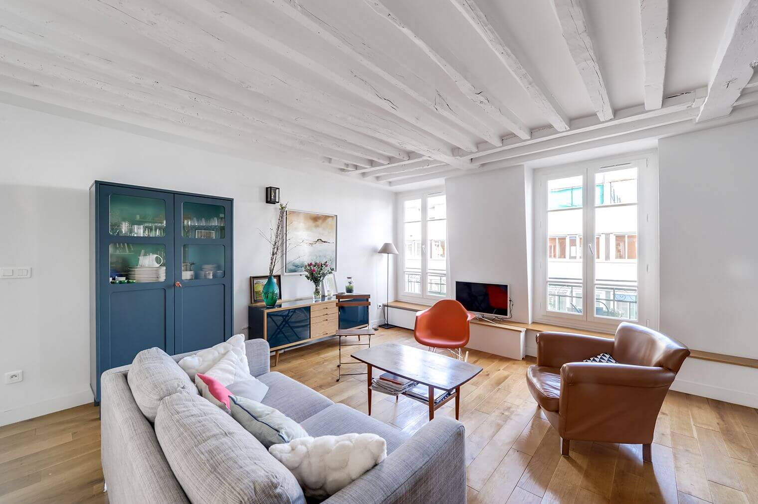 Rénovation d\'un appartement à poutres apparentes
