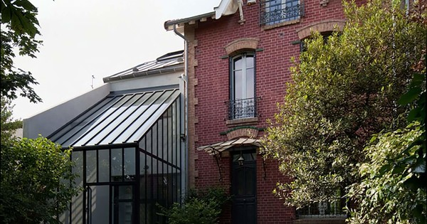 Extension avec verrière d'une maison familiale