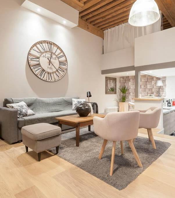 Appartement canut rénové à Lyon