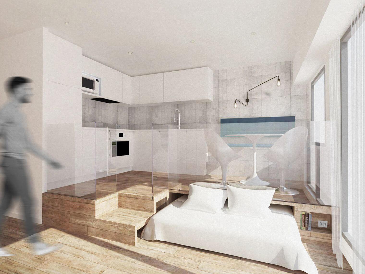 Renovation studio - plan 3D