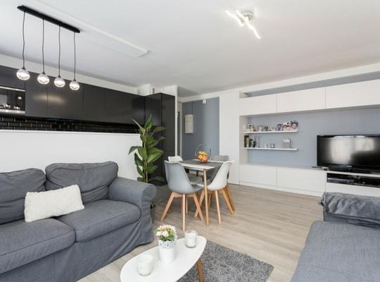 Rénovation appartement moderne séjour