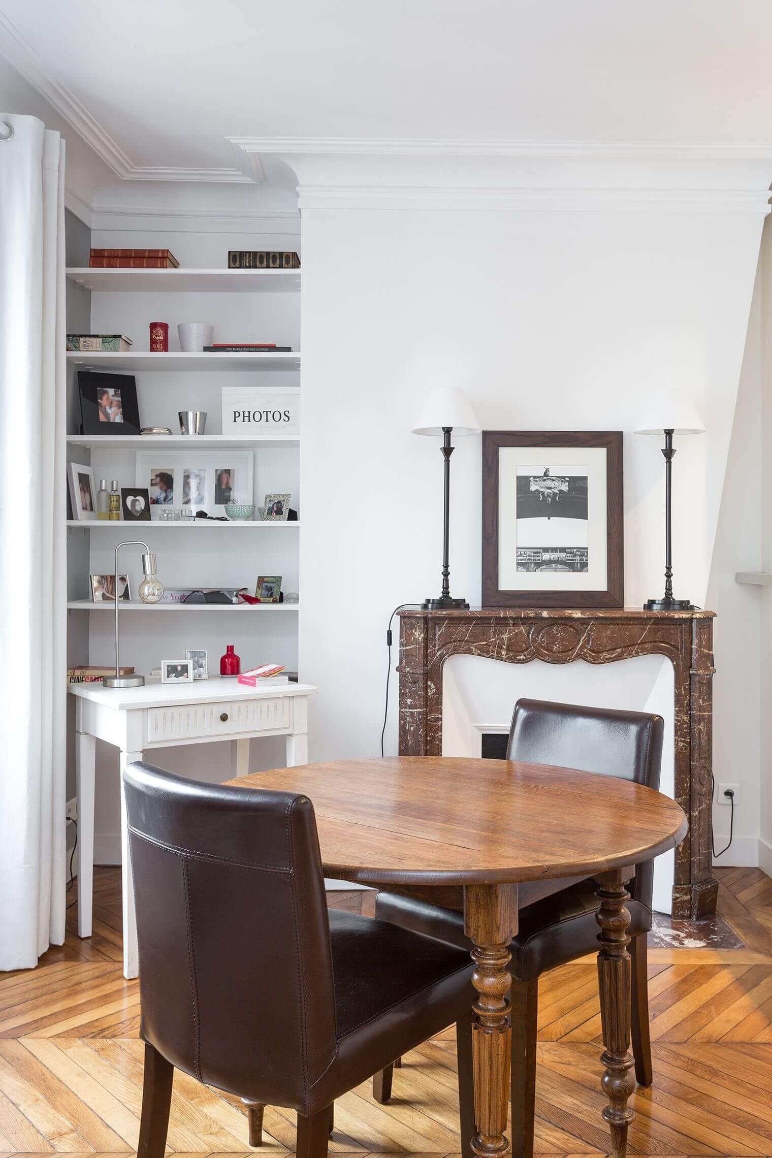 Renovation salon appartement haussmannien