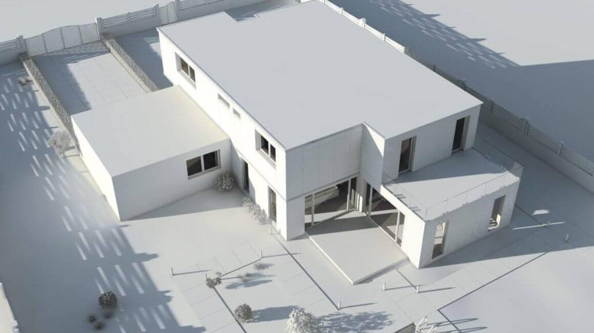 maquette d'une maison d'architecte