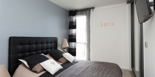 Rénovation appartement moderne chambre