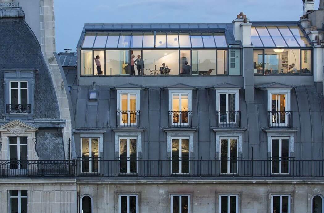 Surélévation d'un immeuble Haussmannien