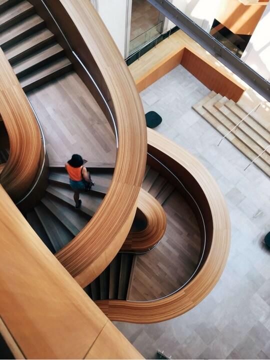 Escalier d'architecte en bois Paris