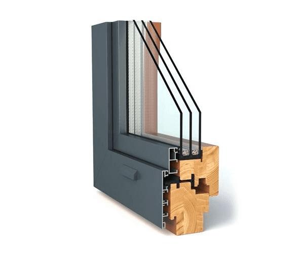 Fenetre mixte bois et aluminium